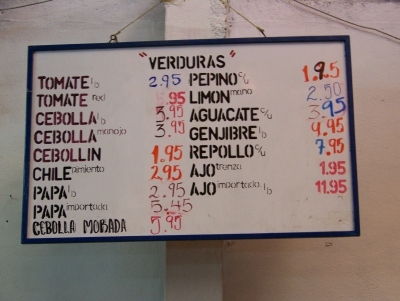 typical prices Guatemala