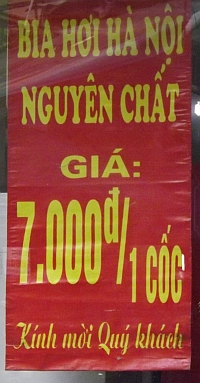 beer prices Vietnam