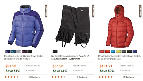 winter travel clothing discounts