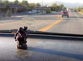 Buddha on Sean G.'s dashboard