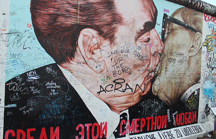 On The Old Berlin Wall A Kiss Is Not Just A Kiss