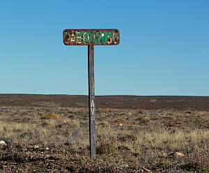Cabo Raso sign in Patagonia