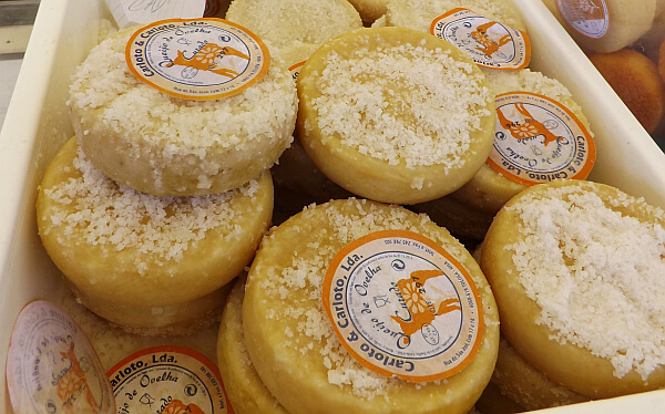 Cheese wheels in Portugal