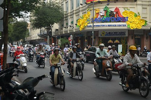 Saigon scooters
